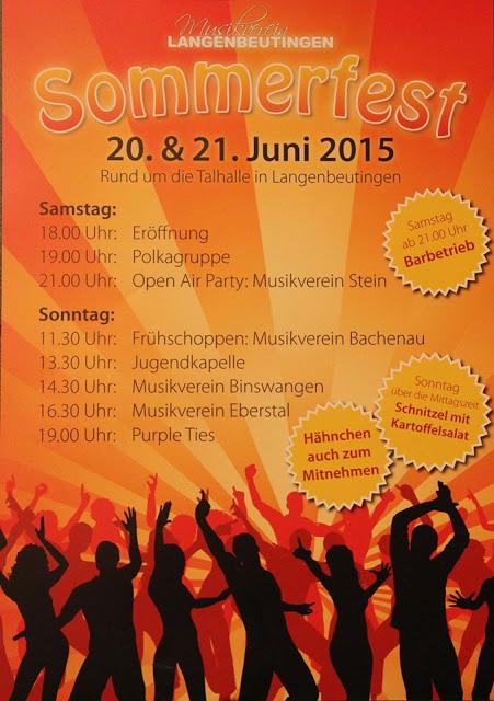 Musikverein Langenbeutingen Sommerfest 2015